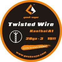 WIRE TWISTED KANTHAL A1 28GA*3 (5 M) - GEEK VAPE