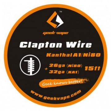 Filo per rigenerare WIRE CLAPTON KANTHAL A1/NI80 26GA(NI)+32GA (5 M) - GEEK VAPE