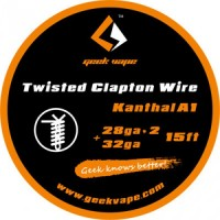 WIRE CLAPTON KANTHAL A1 28GA*2(TWISTED)+32GA (5 M) - GEEK VAPE