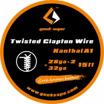 Filo per rigenerare WIRE CLAPTON KANTHAL A1 28GA*2(TWISTED)+32GA (5 M) - GEEKVAPE
