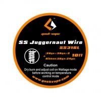 Filo resistivo GEEK VAPE WIRE JUGGERNAUT/SS316L - (28GA+38GA)*2 + RIBBON(38GA+24GA) - 3 M