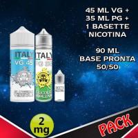 90ml di base 50/50 Nicotina 2mg