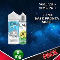 90ml di base 50/50 senza Nicotina