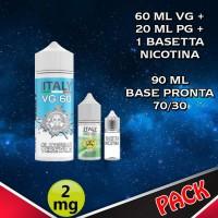 90ml di base 70/30 Nicotina 2mg