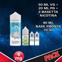 90ml di base 70/30 Nicotina 4mg