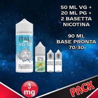 90ml di base 70/30 Nicotina 3mg