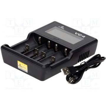 Caricabatterie 4 posti XTar VC4 - 1A