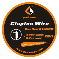 WIRE CLAPTON KANTHAL A1/NI80 26GA(NI)+32GA (5 M) - GEEK VAPE
