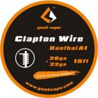 WIRE CLAPTON KANTHAL A1 26GA+32GA (5 M) - GEEK VAPE