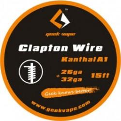 Filo per rigenerare WIRE CLAPTON KANTHAL A1 26GA+32GA (5 M) - GEEKVAPE
