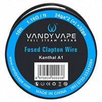 Filo resistivo VANDY VAPE FUSED CLAPTON KANTHAL A1 24GA*2+32GA (3M)