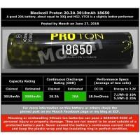 Batteria Blackcell Proton 18650 -3018mAh - 40.2A