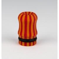 Drip Tip Officine Svapo - Galalite Mod. OFFICINE - Rosso Arancio