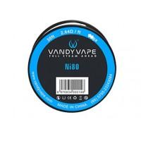 Filo resistivo VANDY VAPE Pure Nichel Ni80 - 26GA