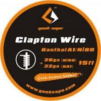 Filo resistivo GEEK VAPE CLAPTON Kanthal A1/Ni80 26Ga+32Ga - 5m