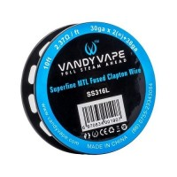 Filo resistivo VandyVape SS316L Superfine MTL Fused Clapton Wire 30ga*2+38ga - 3m