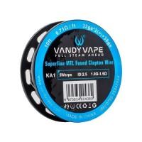Filo resistivo VandyVape KA1 Superfine MTL Fused Clapton Wire 32GA*2 +38GA - 3m