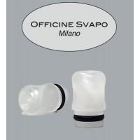 Drip Tip Metacrilato - OFFICINE - Bianco Madreperla