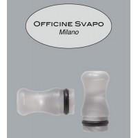 Drip Tip Officine Svapo - Calipso -  Metacrilato Bianco Madreperla