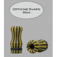 Drip Tip Officine Svapo - Calipso -  Galalite Nero/Senape