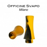 Drip Tip Officine Svapo - ZEUS - Metacrilato Nero / Arancio Madreperla