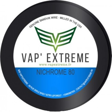 Filo resistivo Vap' Extreme - NiChrome Ni80 28Ga - 32mm - 10m