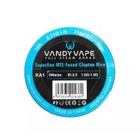 Filo resistivo VandyVape SS316L Superfine MTL Fused Clapton Wire 32ga*2+38ga - 3m