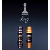 Drip Tip KING a Vite - Metacrilato Ambra