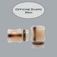 Drip Tip OFFICINE - CORNO DI BUFALO - Marrone Venato Chiaro/Scuro