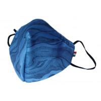 Mascherina in tessuto CupMask Mimetico Bluette-Nero new