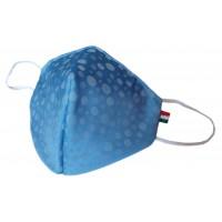 Mascherina in tessuto CupMask Bluette-Bianco