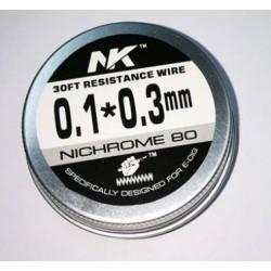 Filo NK Wire Ni80 Flat - 0.1+ 0.3